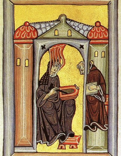 Hildegard von Bingen empfängt eine göttliche Inspiration