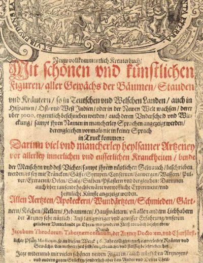 Titelseite des Neuw Vollkommentlich Kreuterbuch, Ausgabe von 1625